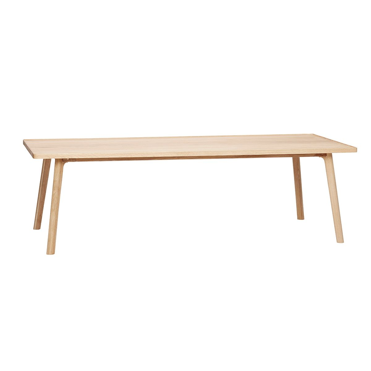 Table basse rectangulaire en chêne massif naturel L 160 cm Hübsch