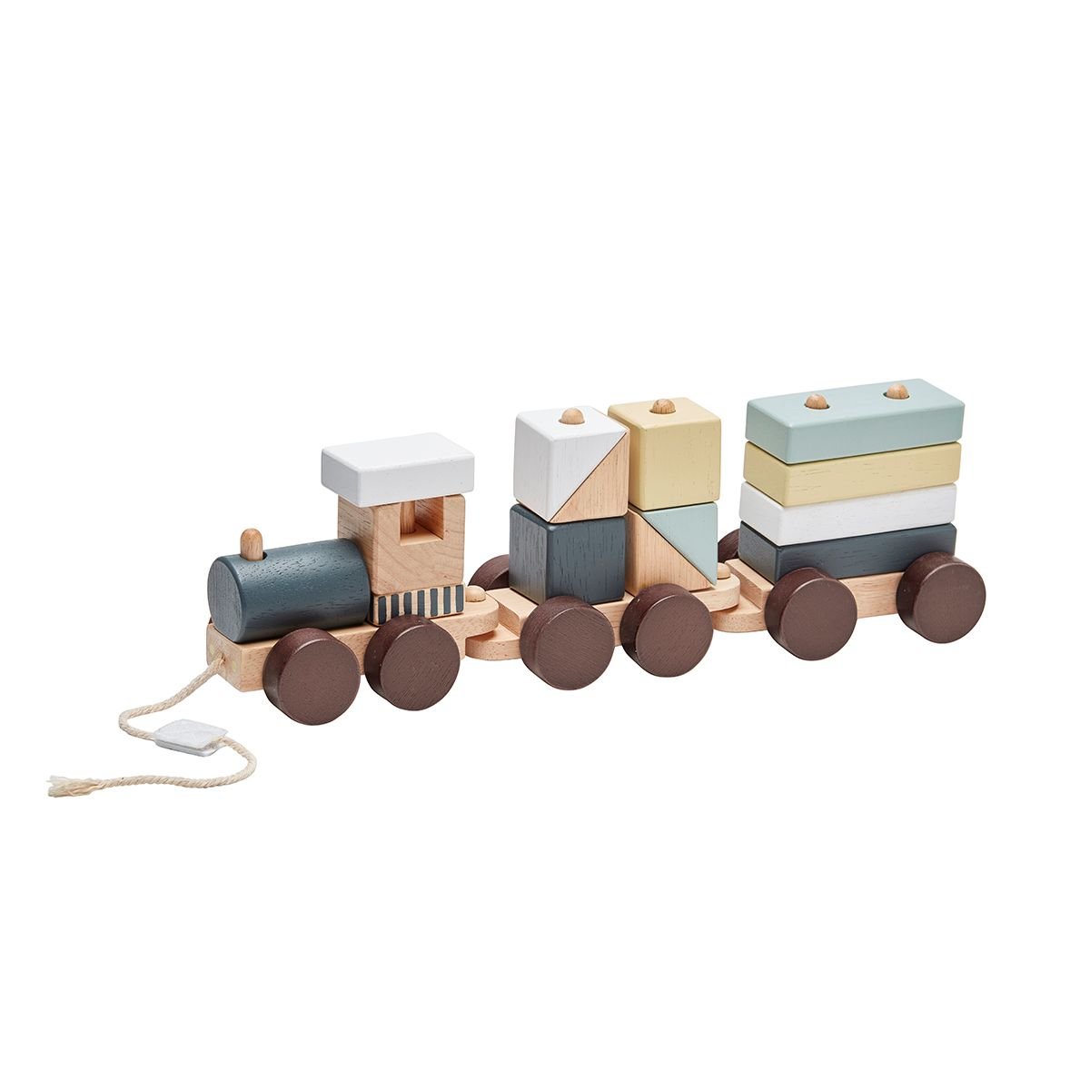 Train avec cubes en bois multicolore Kid´s Concept