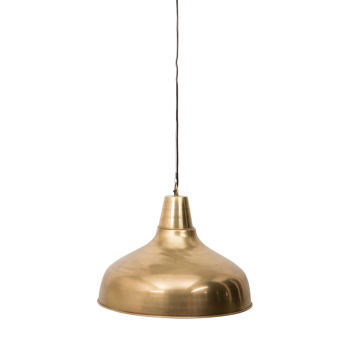 Suspension XL en métal finition laiton int. blanc Brass Mania Dutchbone