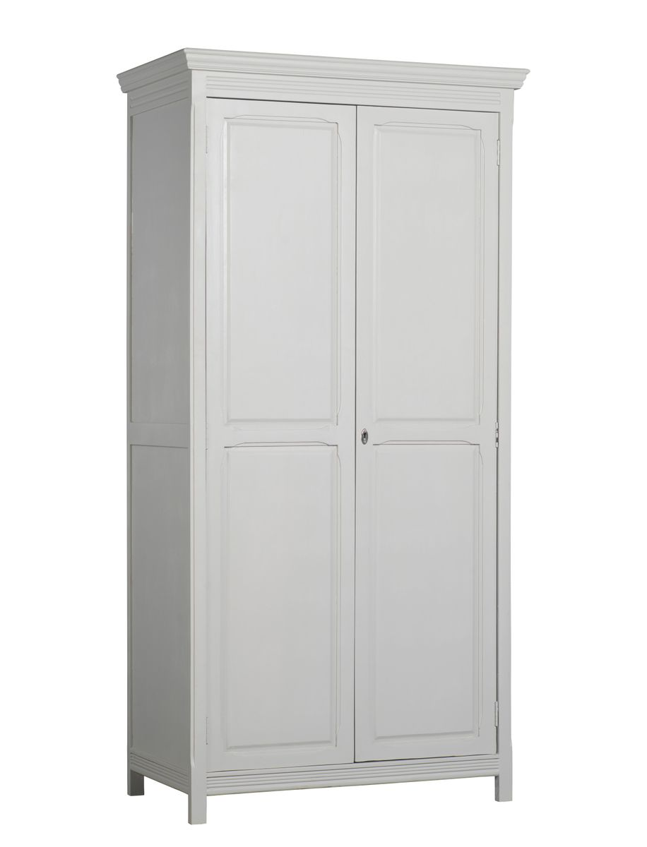 armoire parisienne 2 portes penderie tag res gris p le decoclico. Black Bedroom Furniture Sets. Home Design Ideas