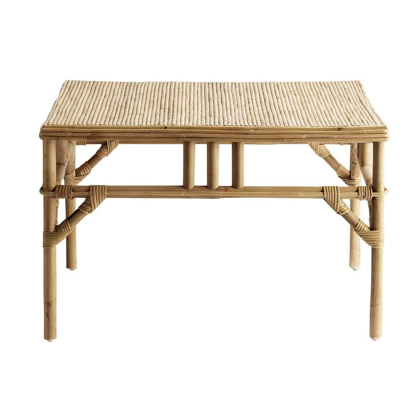 Table basse carrée en rotin naturel Tine K Home