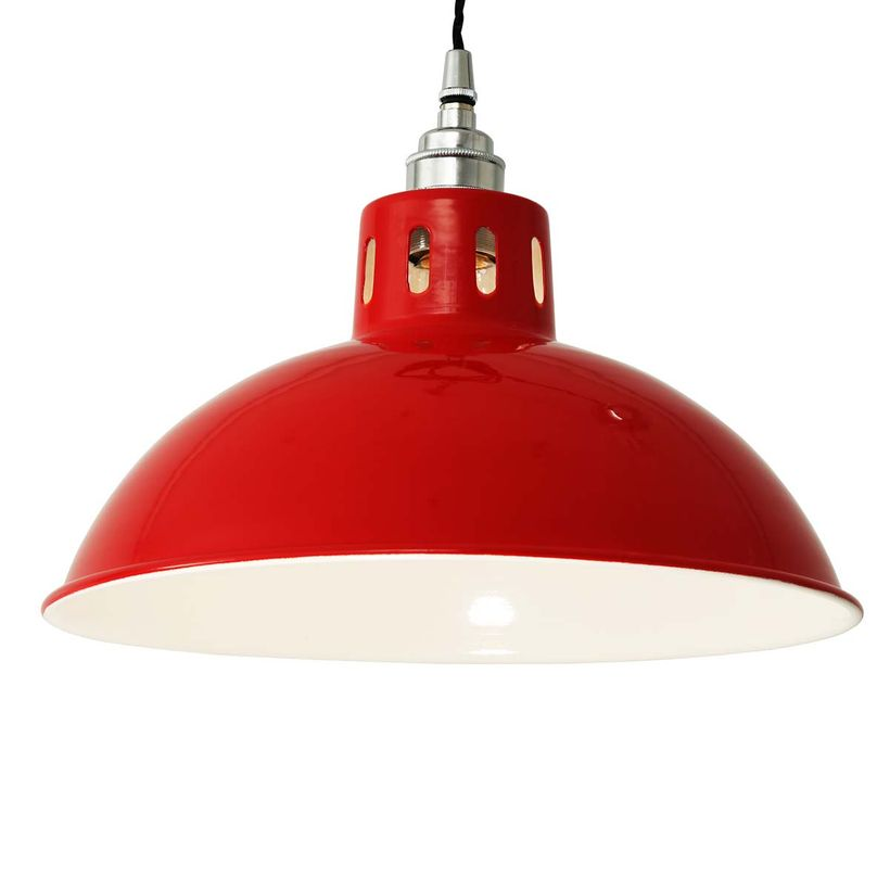 Suspension en aluminium rouge Osson Mullan Lighting