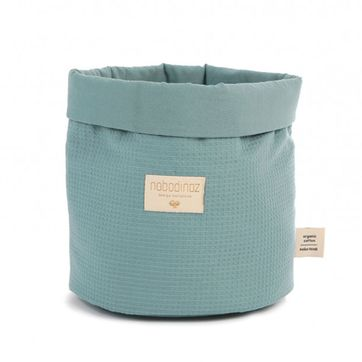 Panier en coton nid d´abeille Magic Green Nobodinoz