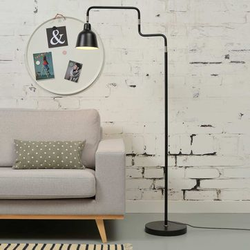 Lampadaire modulable en acier noir London It's about Romi