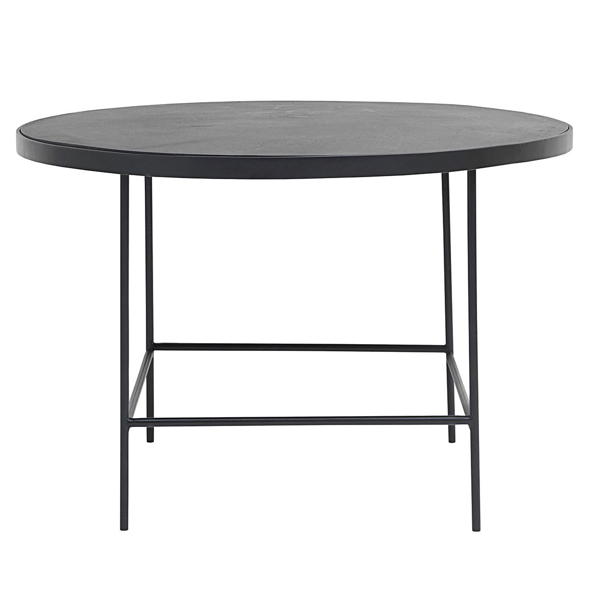 Table basse ronde en métal noir Balance House Doctor