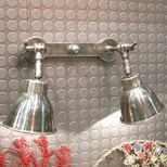 Double applique murale spot en nickel Chehoma