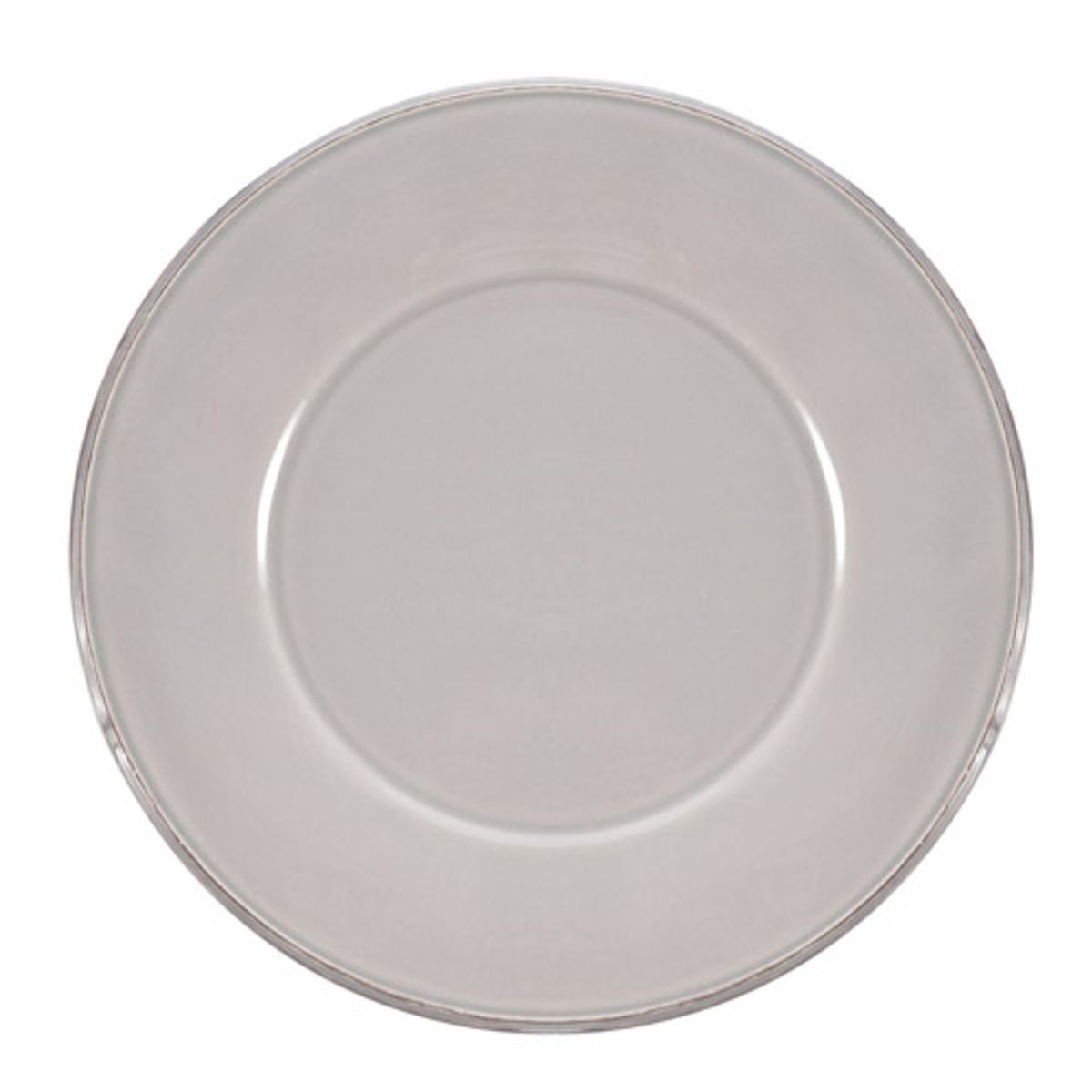 Assiette en faience grise par 6 constance c t table decoclico for Assiette cote table
