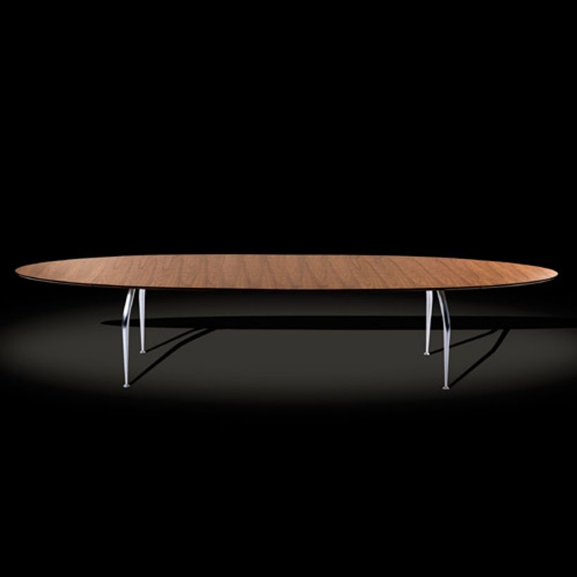 Table à manger ovale extensible en bois Unique