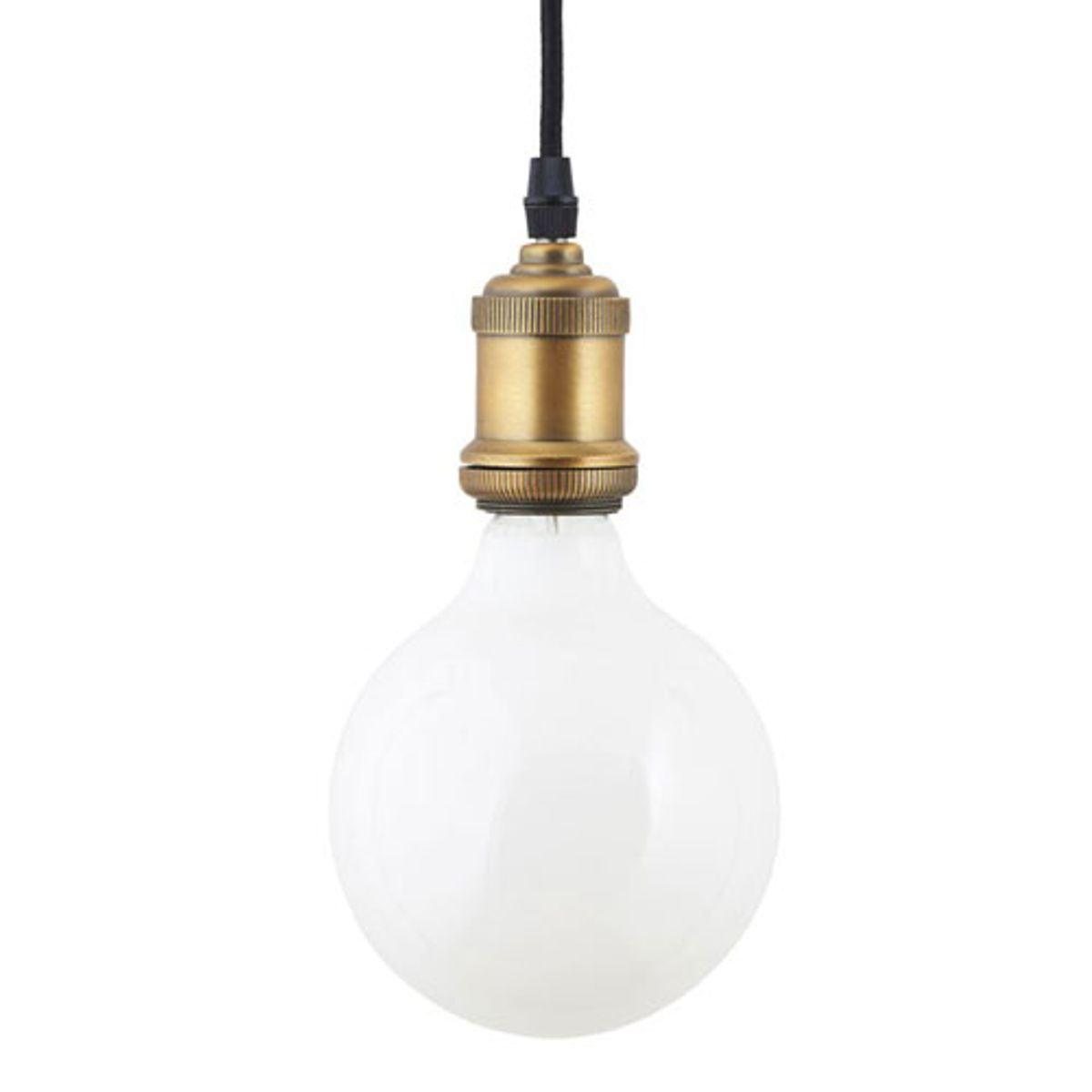 Ampoule globe verre opaque blanc led E27/2W 125mm House Doctor