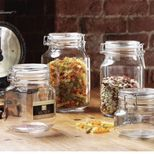 Pot de conservation verre carré 1 L Square Clip Kilner - PM