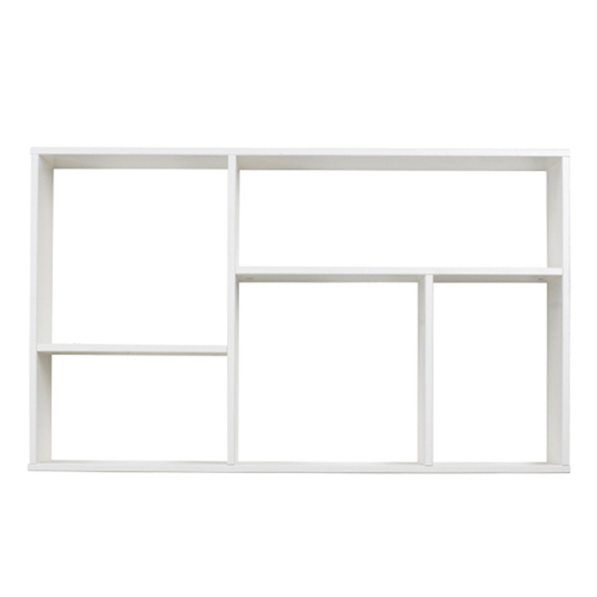 etag re murale en pin blanc 5 niches dennis fabrication. Black Bedroom Furniture Sets. Home Design Ideas