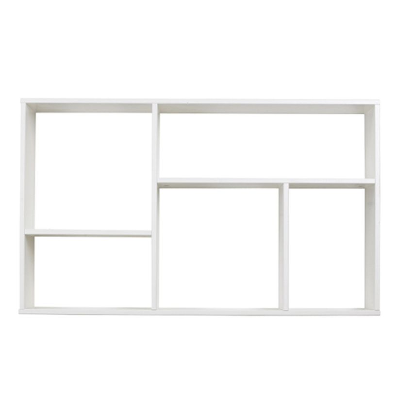 Etag re murale en pin blanc 5 niches dennis fabrication for Etagere niche murale