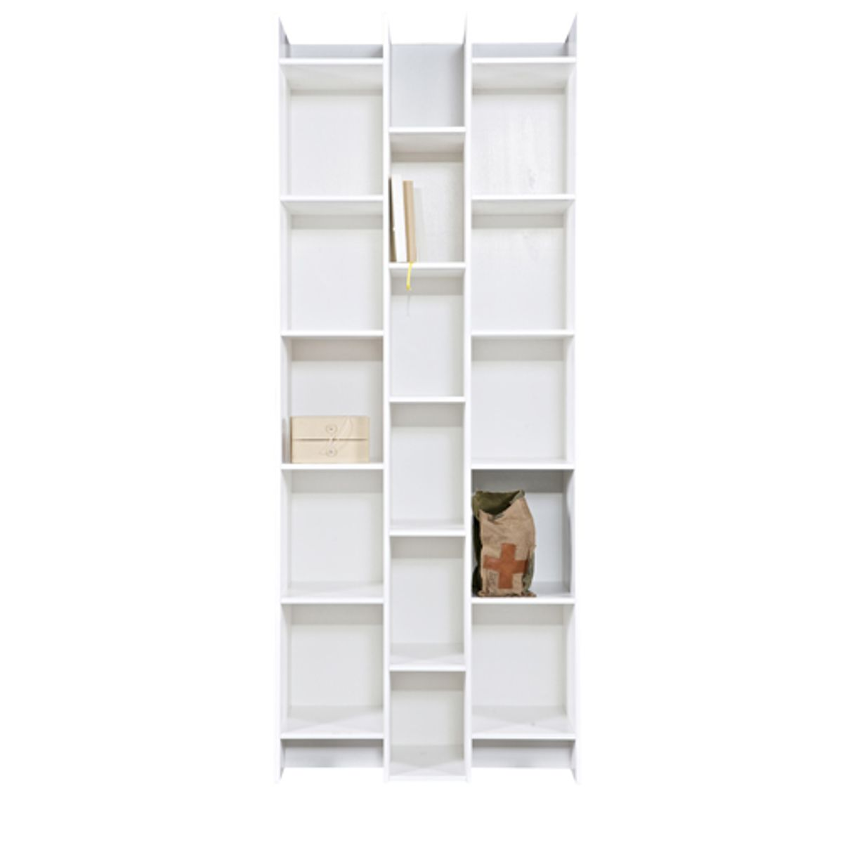 biblioth que tag re en pin massif blanc expand decoclico. Black Bedroom Furniture Sets. Home Design Ideas