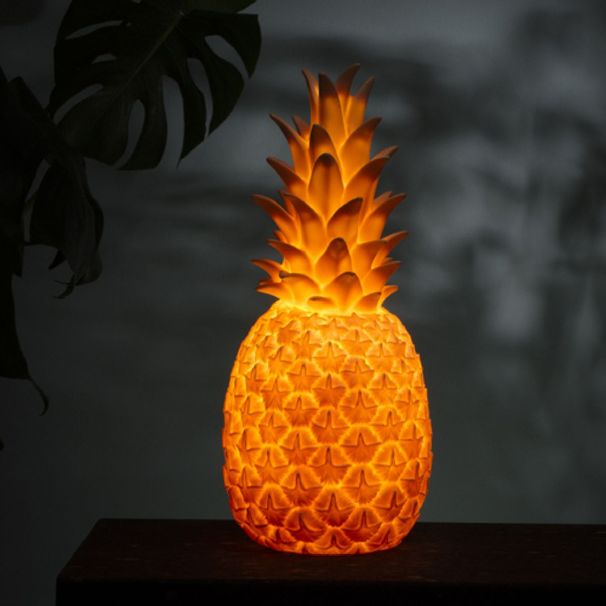 Lampe / veilleuse Ananas en vinyle Goodnight Light - Rose pastel