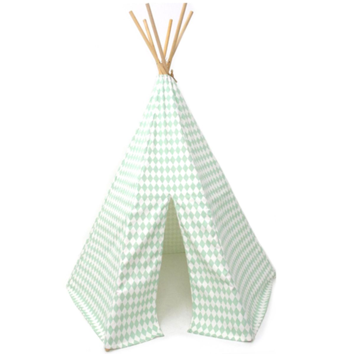 Tipi Arizona en coton sergé Green diamonds Nobodinoz