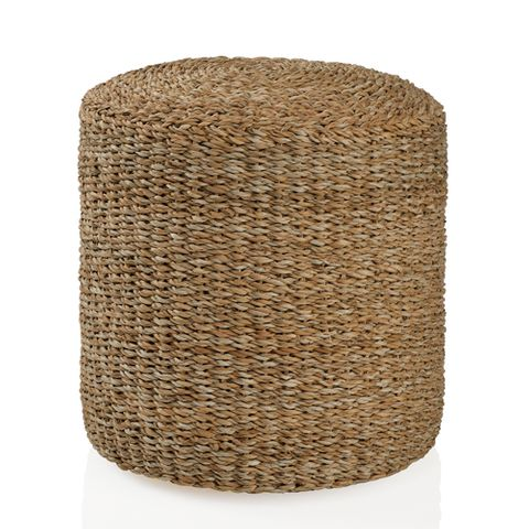 pouf coussin de sol rond en jonc de mer naturel decoclico. Black Bedroom Furniture Sets. Home Design Ideas