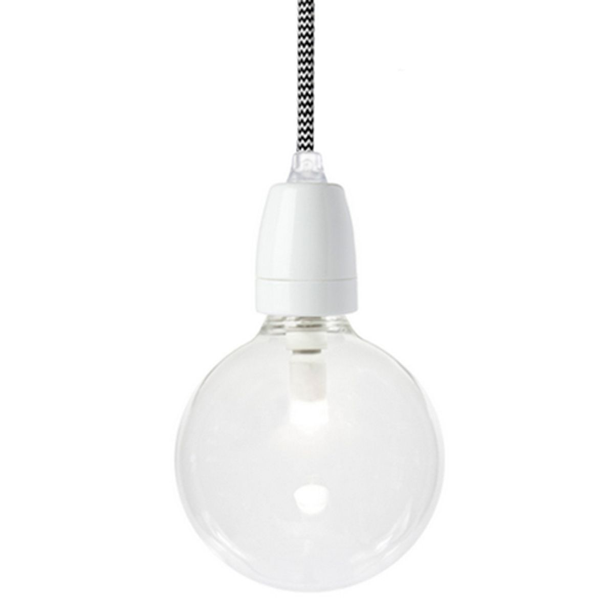 Suspension en porcelaine blanche Nud Collection