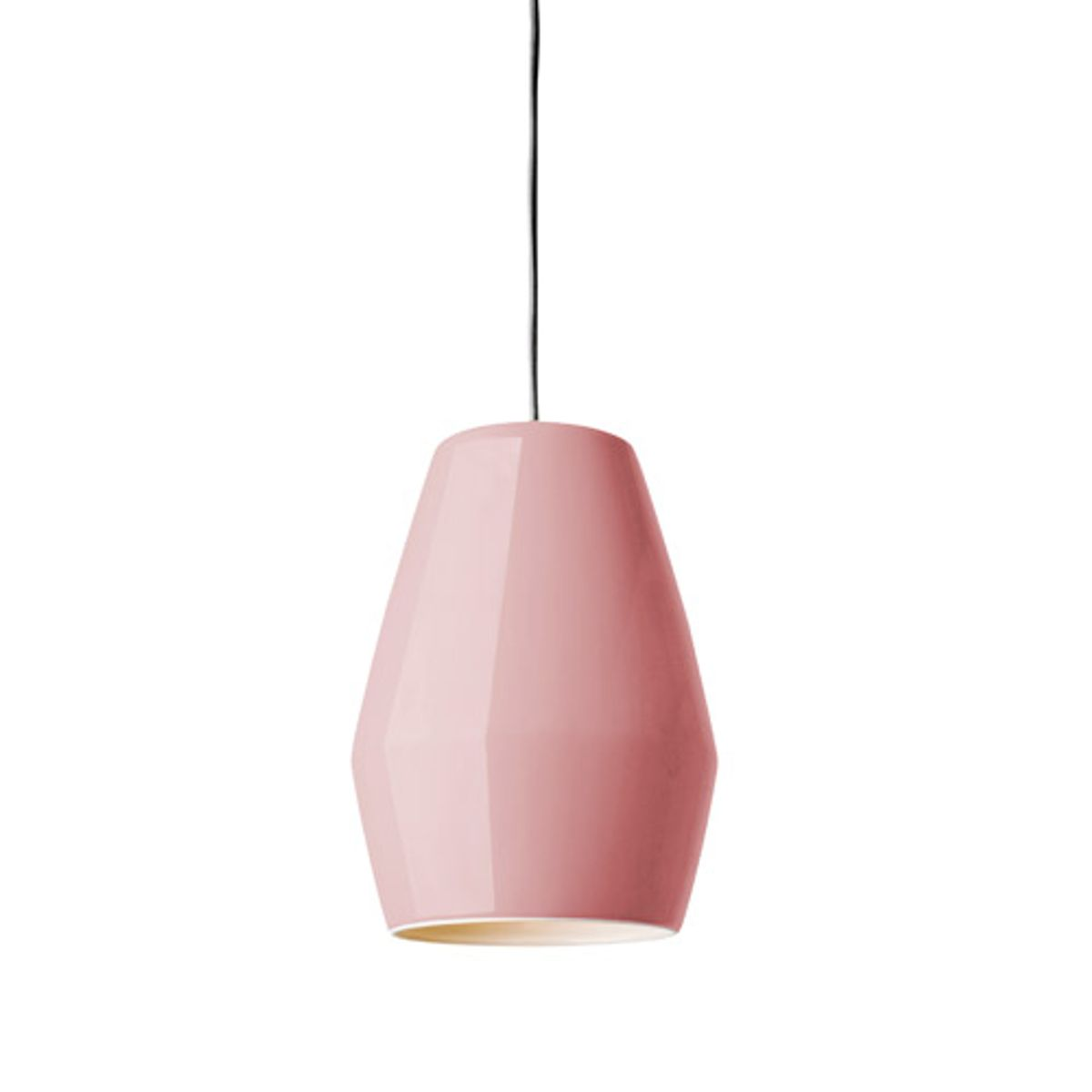 Suspension en porcelaine Bell Northern Lighting - rose