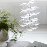Lustre / Suspension 12 boules en verre Diy House Doctor