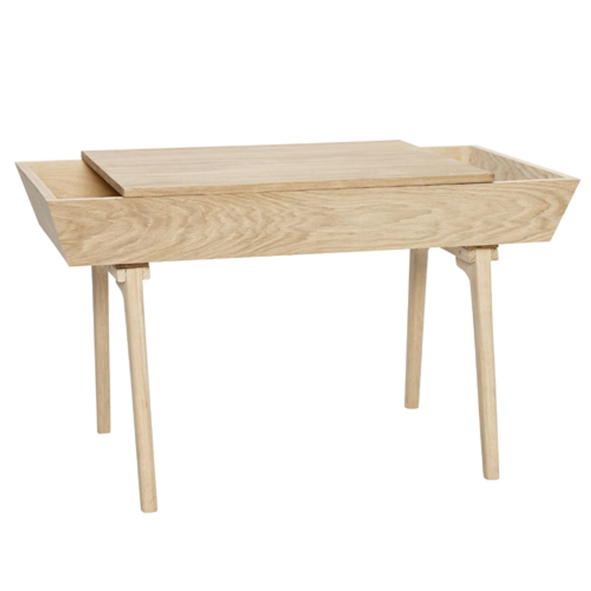 Table basse en chêne naturel avec 2 compartiments Hübsch