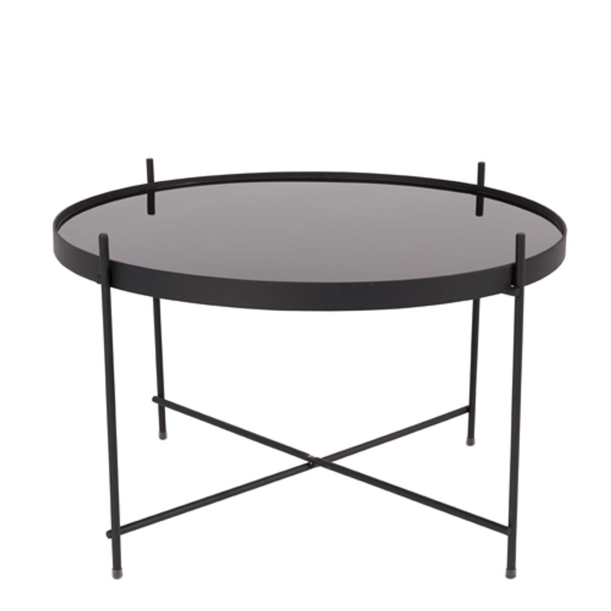 table basse ronde en verre noir. Black Bedroom Furniture Sets. Home Design Ideas