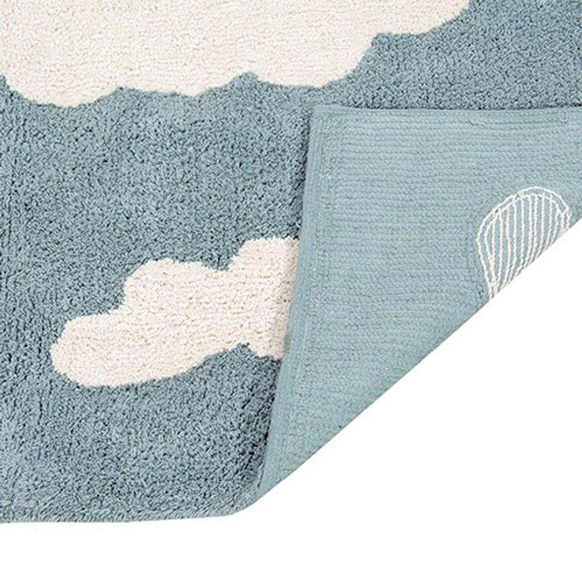 tapis enfant en coton motif nuage clouds lorena canals bleu decoclico. Black Bedroom Furniture Sets. Home Design Ideas
