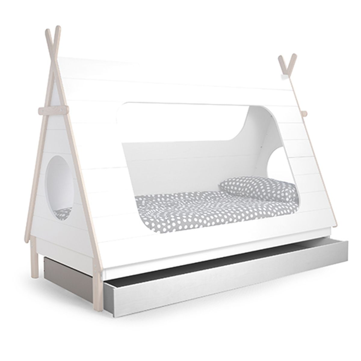 Lit Enfant Tipi Made By Woood En Pin Massif FSC